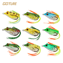 Goture Hot Selling 9pcs Frog Fishing Lure 5.5CM 12.5G Topwater Wobblers Soft Artificial Bait