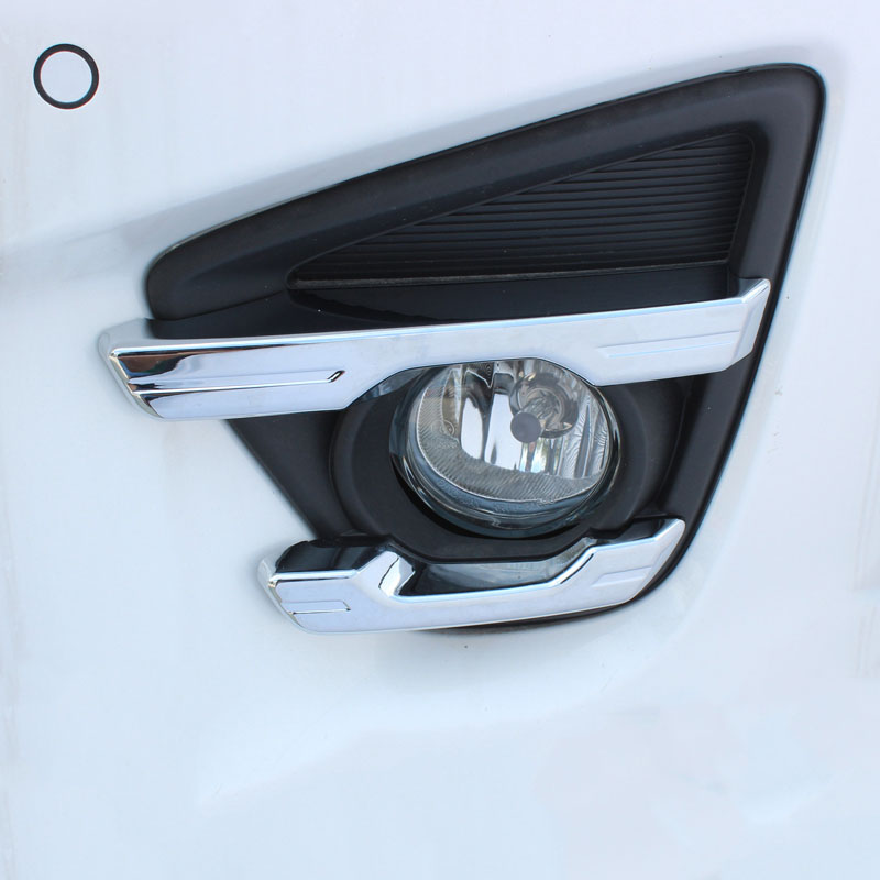 FIT FOR <font><b>MAZDA</b></font> CX-5 <font><b>CX5</b></font> 2015 2016 CHROME FRONT <font><b>FOG</b></font> <font><b>LIGHT</b></font> LAMP <font><b>COVER</b></font> TRIM STRIP BEZEL FOGLIGHT GARNISH INSERT MOLDING 4PCS image