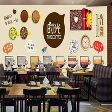 wallpaper 3d Custom Fashion cartoon hand painted cafe cake bread snack bar restaurant fast food shop wallpaper mural(China)