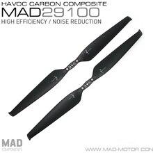 MAD HAVOC 29X10 CARBON & PLASTIC Polymer Folding propeller for rc multi-rotors VTOL Multicoptor Drone Quadcopter UAV