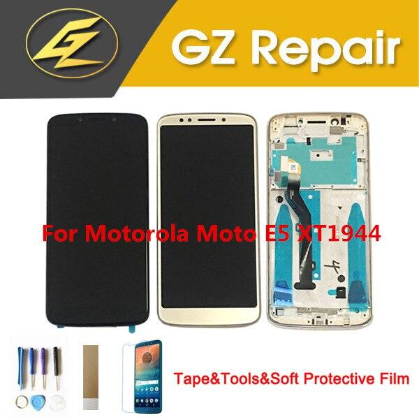 5.7 Polegada Para Motorola Moto E5 XT1944 LCD Display Com Sensor de Toque Digiziter Vidro Assembléia Com Frame Com Kits
