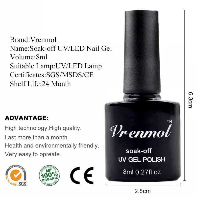 Vrenmol 8 ml apprêt paillettes couleurs UV Gel vernis à ongles permanent vernis longue durée Esmaltes ongles manucure ensemble