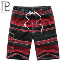 Men's Quick Drying Board Shorts Wide Waistband Swimsuit Bottom Shorts Swimming Panty Swim Trunks with adjustable elastic waist(China)