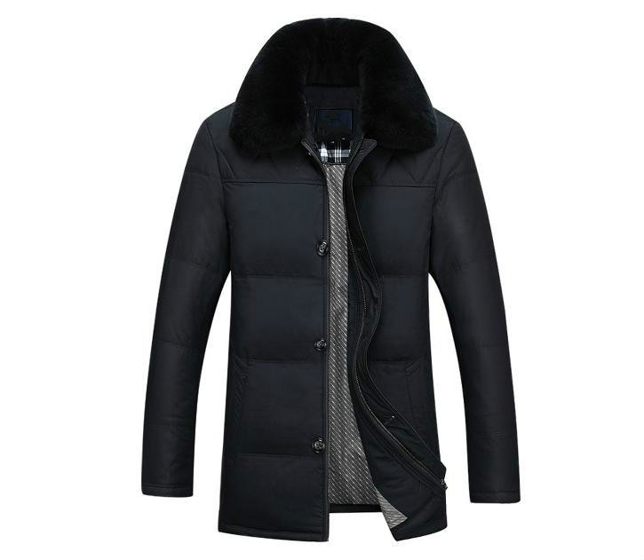 Middle-aged And Old Middle-aged Men Down Jacket Male Rabbit Fur Collar Against The Clear Coat Male Winter Season In Winter down the rabbit hole