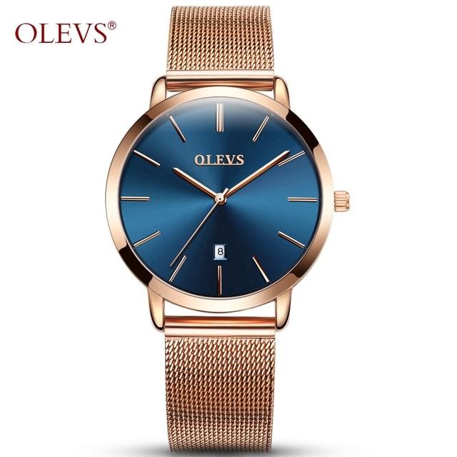 OLEVS Brand Woman Watch 2018 Luxury Women Watches Ladies Gold Steel Strap Quartz Date Watches Casual Waterproof Lady Wrist watch