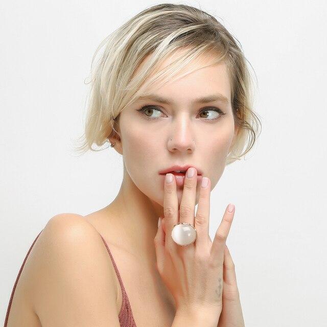 Nandudu Lusso Big Opal Anello Nuovo Stile di Arrivo per Le Donne Ragazza R1811 Costante Amore Anelli Dell'annata di Modo del Regalo di Anniversario