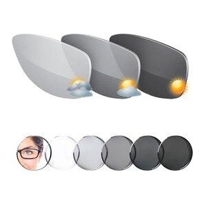 Image 3 - MR 8 Super twarde fotochromowe cyfrowe, bezkształtne, progresywne soczewki korekcyjne asferyczne do diamentowych oprawek okulary bez oprawek