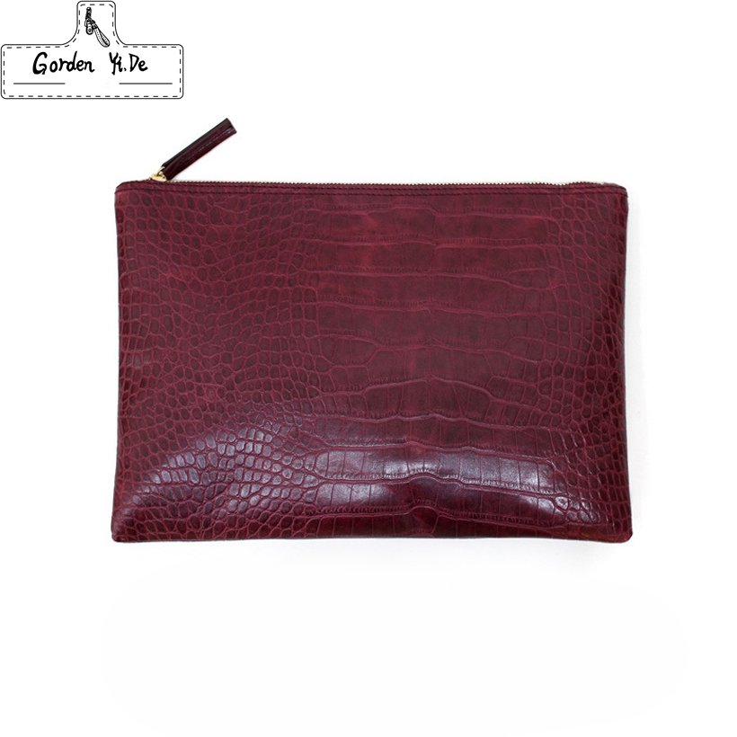 2018 New Fashion crocodile grain women's clutch bag leather women envelope bag clutch evening bag female Clutches Handbag 2018 yuanyu 2016 new women crocodile bag women clutches leather bag female crocodile grain long hand bag