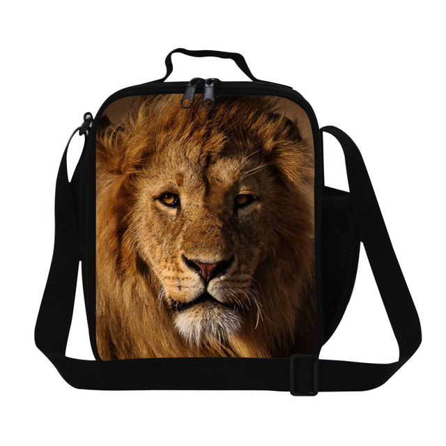 2016 Animal Lunch Bag For Children Cool Lion Insulated Lunch Box For Office Lunchbag Men's Small Picnic Food Bag Bolsa Termica