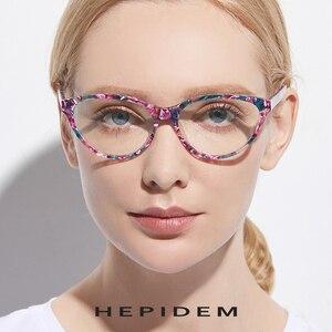 Image 3 - アセテート光学眼鏡フレームの女性のブランドデザイナーキャットアイ処方メガネ新キャットアイ眼鏡眼鏡9111