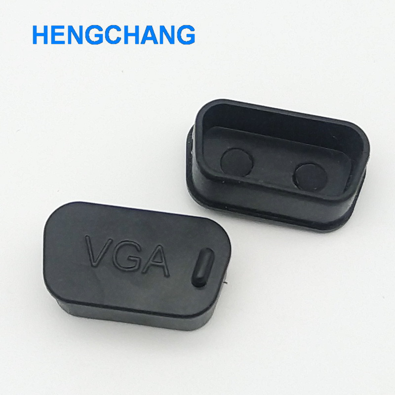 VGA Protective Cover Rubber Covers Dust Cap For VGA Connector 10pcs/lot