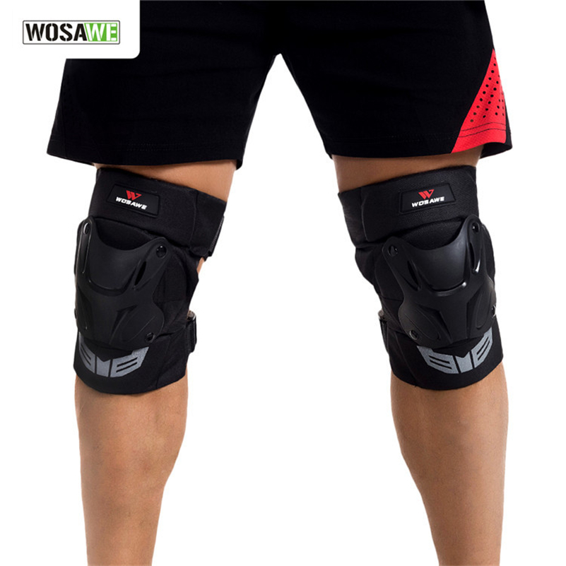 WOSAWE Cycling Skating Knee Pad Brace Skateboarding Motorcycle Off Road Knee Guard Pads Men Sports Safety Protectors Knee Pads цена