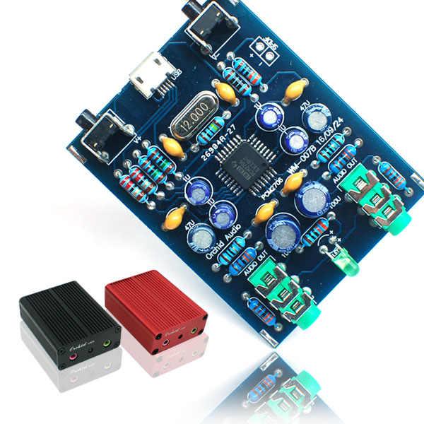 Pcm2706 usb dac بطاقة الصوت مضخم متن يدعم معدل العينة 32 كيلو ، 44.1 كيلو ، 48 كيلو هرتز