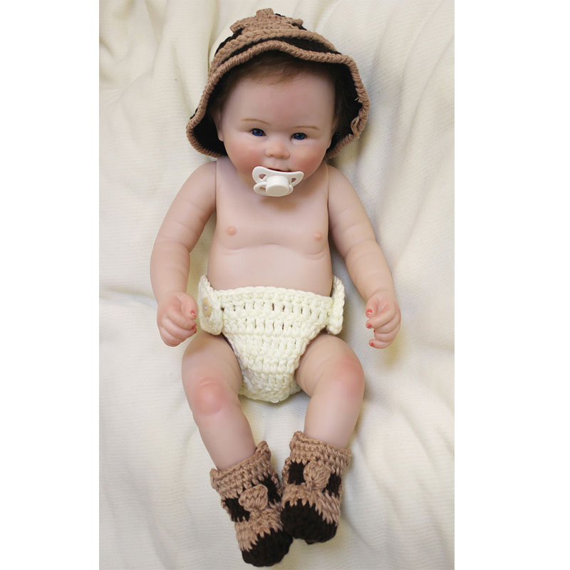 New Arrival Alive 20'' 50cm Reborn Baby Dolls With Big Hat Handsome Reborn Boy Doll Full Silicone Baby Doll For Sale Birth Gifts 2016 new arrival pregnant doll with mini baby in belly baby alive reborn doll in her tummy happy family for little keri