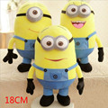 1PCS Despicable Me 3D Eyes High Quality Plush Toy 18cm Minions Soft Dolls Jorge Stuart Dave Plush Toys Free Shipping