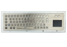 Metal Kiosk Keyboard with Touchpad Metal touch the keyboard rugged keyboard Hebrew Russian Keyboard
