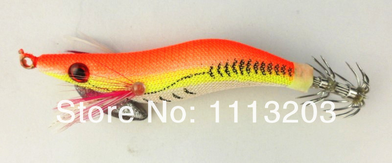 New 20pcs/lot wood Squid jig lures fishing Shrimp size 2# artificial Shrimps lure pesca protein tackle Free shipping