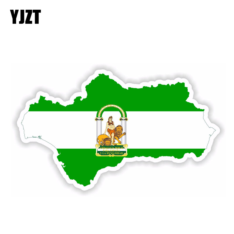 Spain Map Flag.Yjzt 15cm 8 7cm Car Styling Andalucia Spain Map Flag Car Sticker Accessories Decal 6 1966
