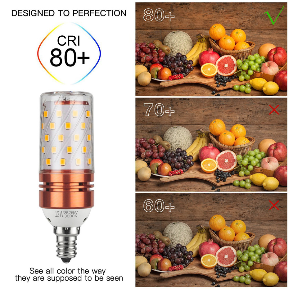 Image 4 - Lowest price 4pcs LED Corn Bulb E27 E14 SMD2835 No Flicker 8W 12W 16W 100V 240V Chandelier Candle LED Light For Home Decoration-in LED Bulbs & Tubes from Lights & Lighting
