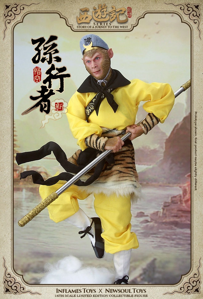 1 6 scale figure doll jurney to the west monkey king with 2 heads 12 action figures doll collectible figure model toy gift 1/6 scale figure doll Jurney To The West Monkey King Sun Wukong 12 Action figure Collectible Figure Plastic model toy