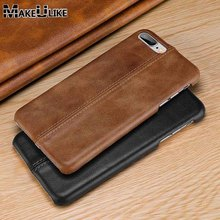 hot deal buy makeulike genuine leather case for iphone 7 plus cover fitted capa matte coque for apple iphone 7 case for 7 plus case fundas