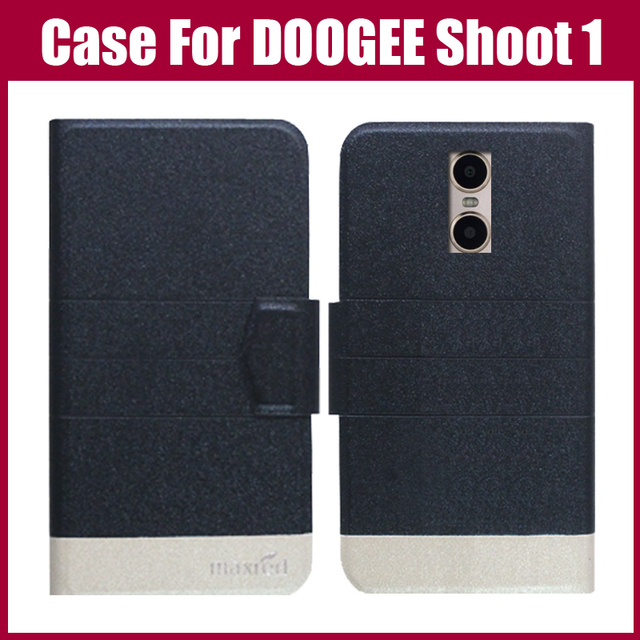 Hot Sale! DOOGEE Shoot 1 Case New Arrival 5 Colors Fashion Flip Ultra-thin Leather Protective Cover For DOOGEE Shoot 1 Case