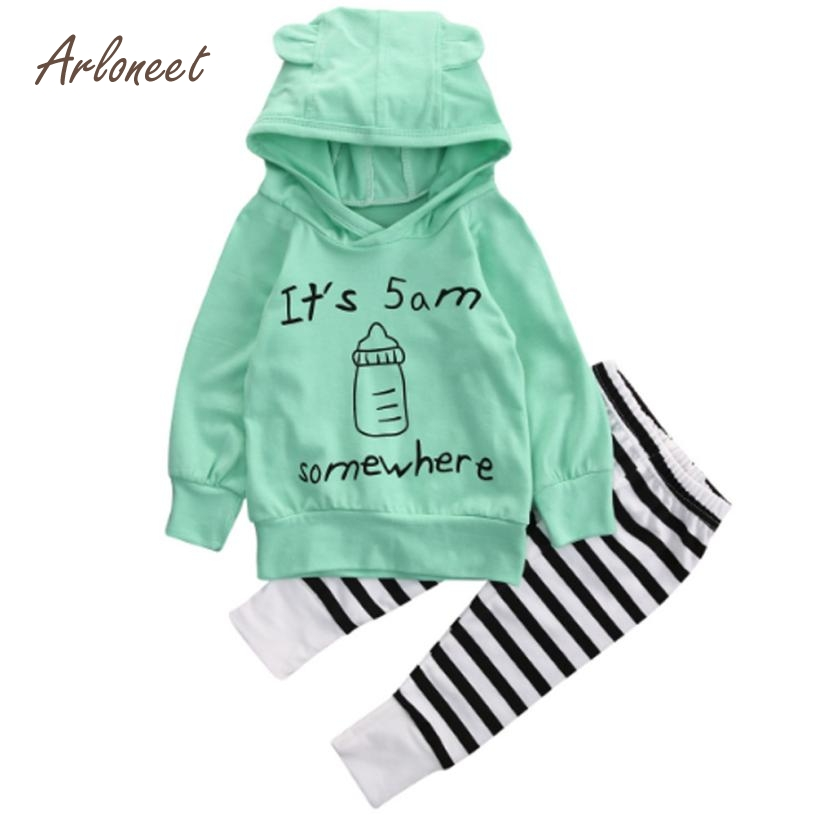 ARLONEET Winter Baby Clothing Set Baby Girl Baby Sweatshirt Outfits Cotton Long Sleeve Boy Clothes 1Set E30 Jan17