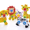 Animal toys assembly  wooden toys  children education puzzle toy  Kid Early learning animals  pattern gift For Children   CU102