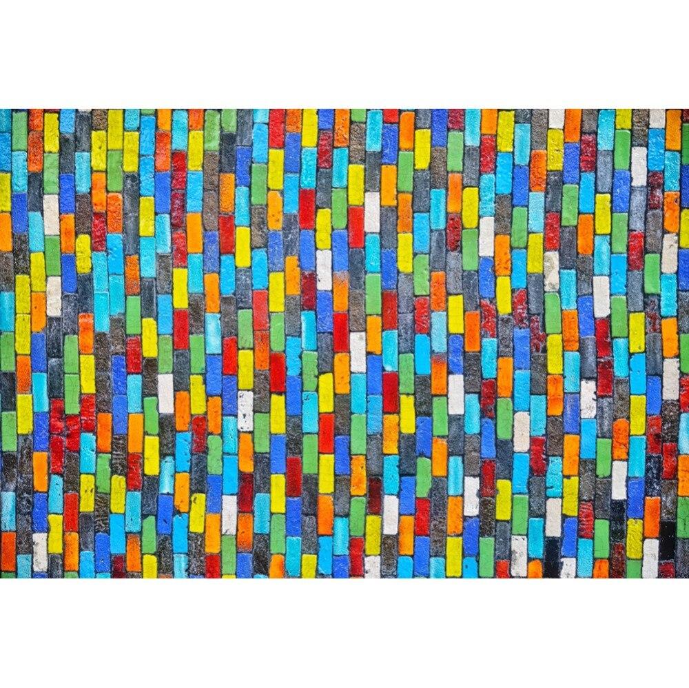 Laeacco coloré brique mur fête décor papier peint enfant Portrait photographie arrière-plans Photo toile de fond Photocall Photo Studio