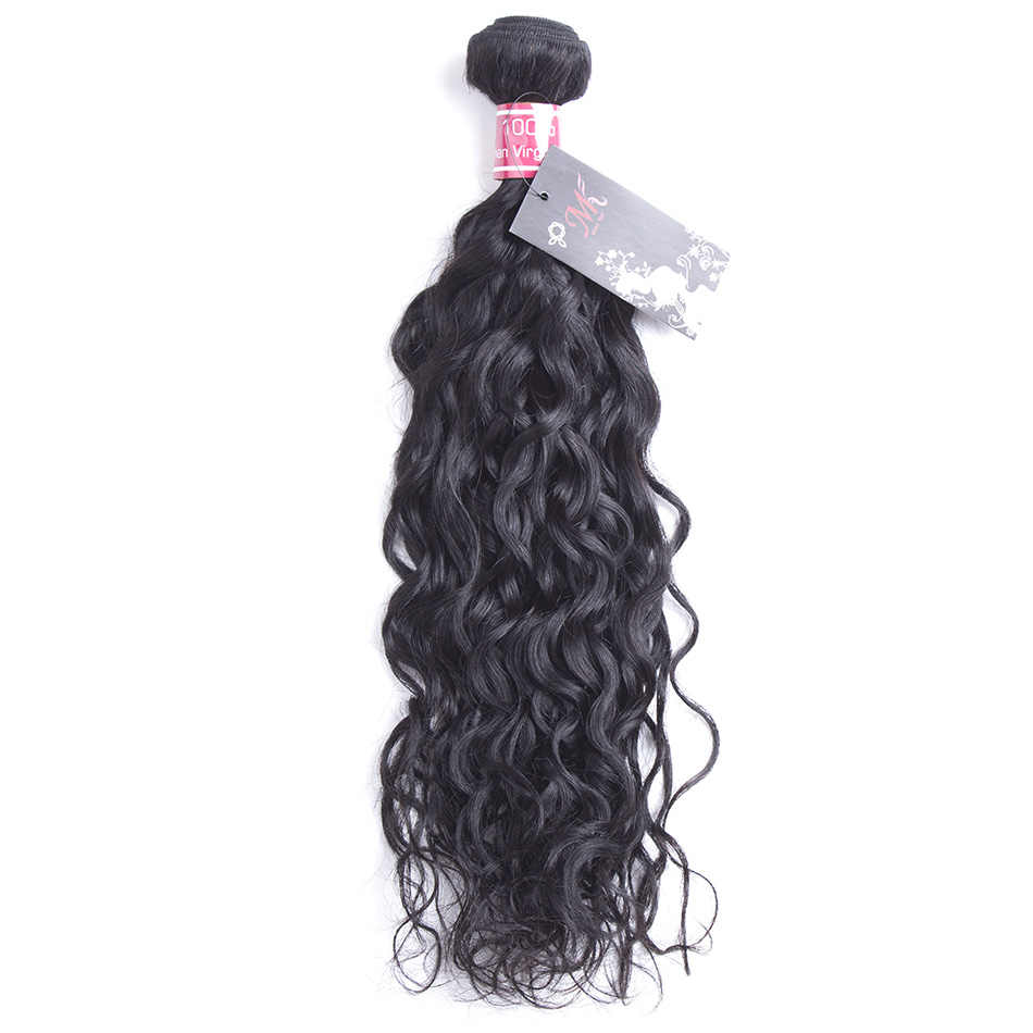JSDshine Hair Water Wave Brazilian Hair Weave Bundles 100% Human Hair 8-28 inch Natural Color Non Remy Hair Extensions