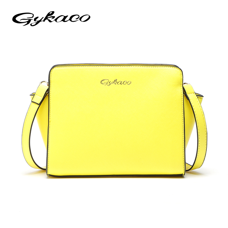 Gykaeo Brand 2017 Winter Fashion Small Crossbody Bags for Women Messenger Bag Ladies Yellow Evening Day Clutches Bags Sac A Main women diamond messenger bags party silver black gold blue clutches evening bags for women fashion ladies crossbody for ladies