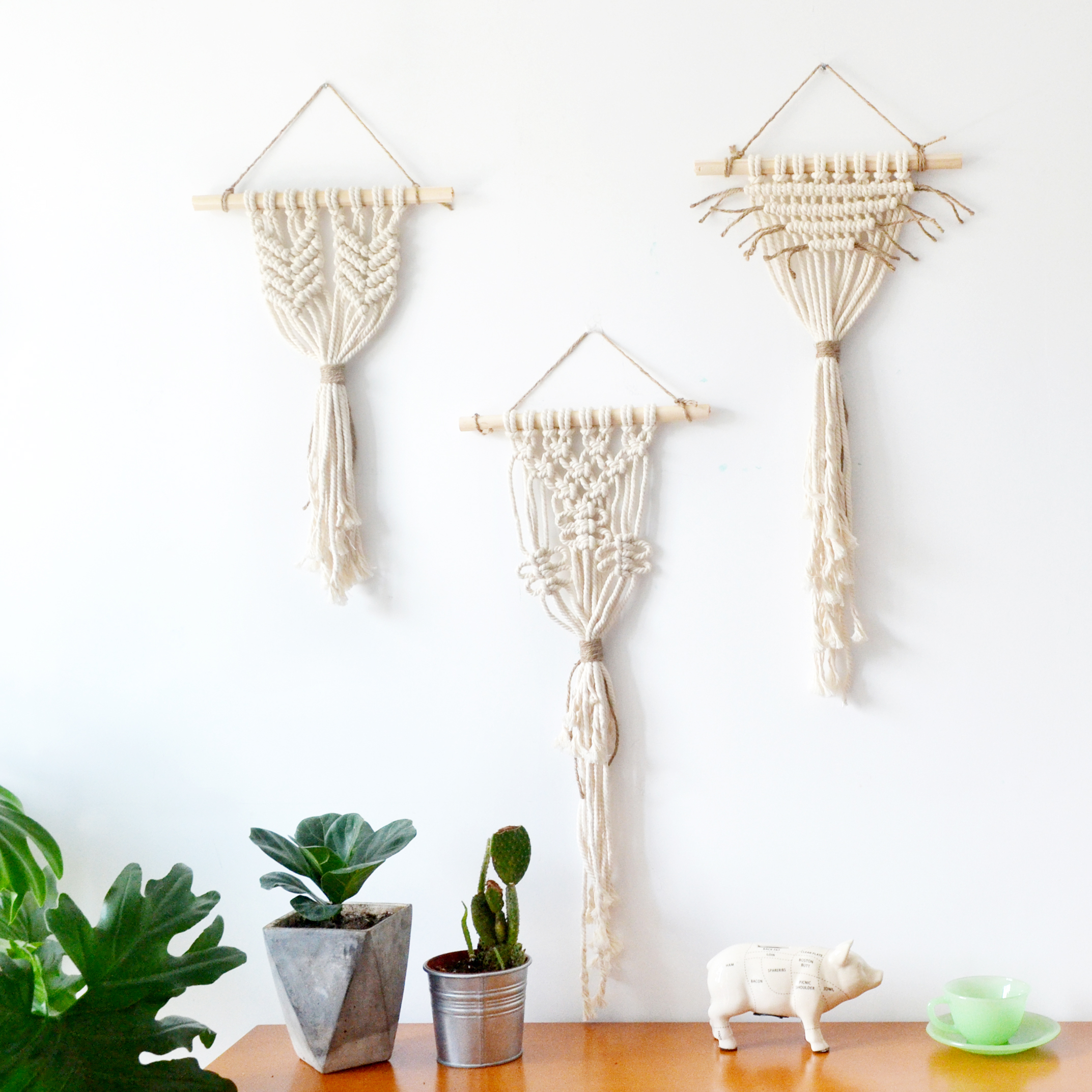 Woven Leaves Wall Decor : Hand woven tapestry wall hanging decoration art
