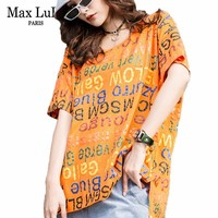 Max LuLu 2019 Fashion Korean Style Ladies Kawaii Tops Tee Womens Summer Printed Punk T shirt Casual Oversized T Shirts Plus Size