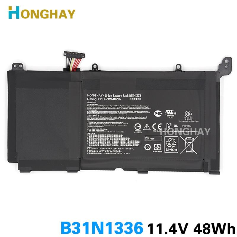 Honghay  Original B31N1336 Laptop battery for ASUS VivoBook C31-S551 S551 S551LB S551LA R553L R553LN R553LF K551LN V551L V551LA