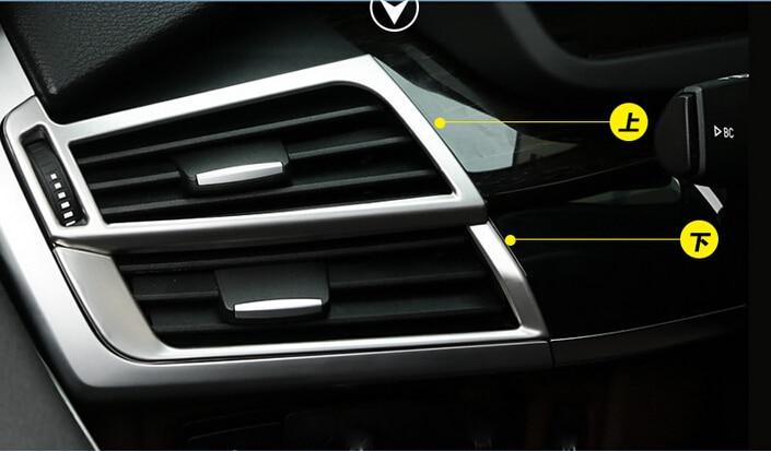 font b Car b font 4pcs Inner Side Air Vent Outlet Cover Trim Matt For