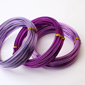 2.0mm anodized aluminum craft wire color 3m roll shape wire for jewelry findings DIY decor artistic making