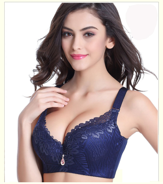 b7605c3e9d Big size 36-50C D DD E F cup bra Large Women s Plus Size Cotton Bras  Lace Rhinestone Decorated Push Up Bra Sexy Lingerie C3313