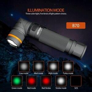 Image 3 - NICRON Magnet 90 Grad Wiederaufladbare LED Taschenlampe Handfree 800LM Ultra Hohe Helligkeit Wasserdicht Camo Ecke LED Taschenlampe B70