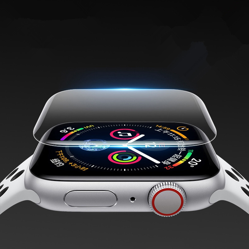 2 pcs. Lot Screen Protector for i watch 2 3 4   hydrogel protective film with full cover for Apple  Watch 38 40 42 44 mm Size|Phone Screen Protectors| |  - title=