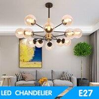 Green Eye Nordic Chandelier Lighting With Iron Lampshade For Living Room led bulb AC 110V 220V Modern Wooden Lustres chandelier