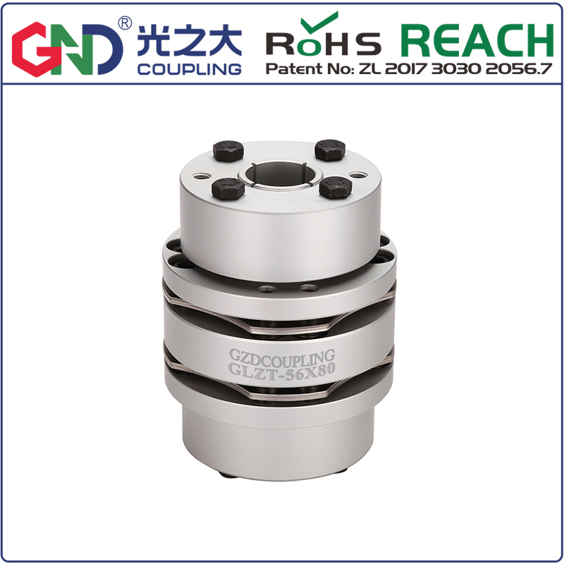 Aluminium material coupling GLZT 8 screw high rigidity double diaphragm expansion sleeve couple accessories couplerAluminium material coupling GLZT 8 screw high rigidity double diaphragm expansion sleeve couple accessories coupler