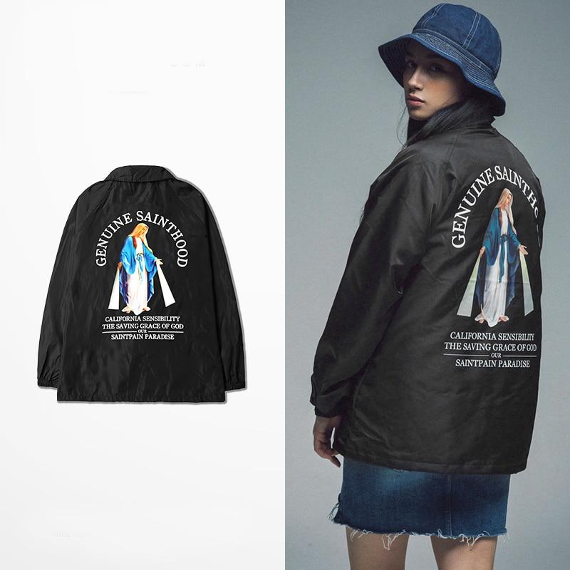 American street loose jackets hip pop women spring black sainthood coats oversize autumn xxxl skateboard outwears giacca donna