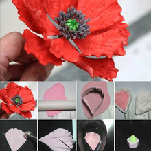 Attrayant Fabsolem Gum Paste Poppy Flower Petals Cutter Mould