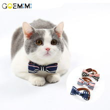 Pet cat collar Original design leather pet Exquisite with bow decoration products for dog kitten puppy