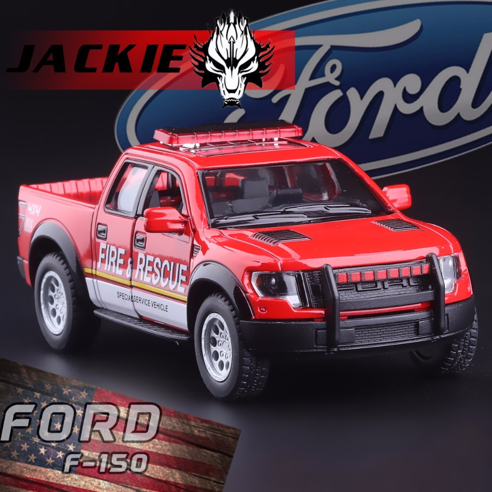 New 1 46 ford f150 raptor off road pickup truck police fire rescue car
