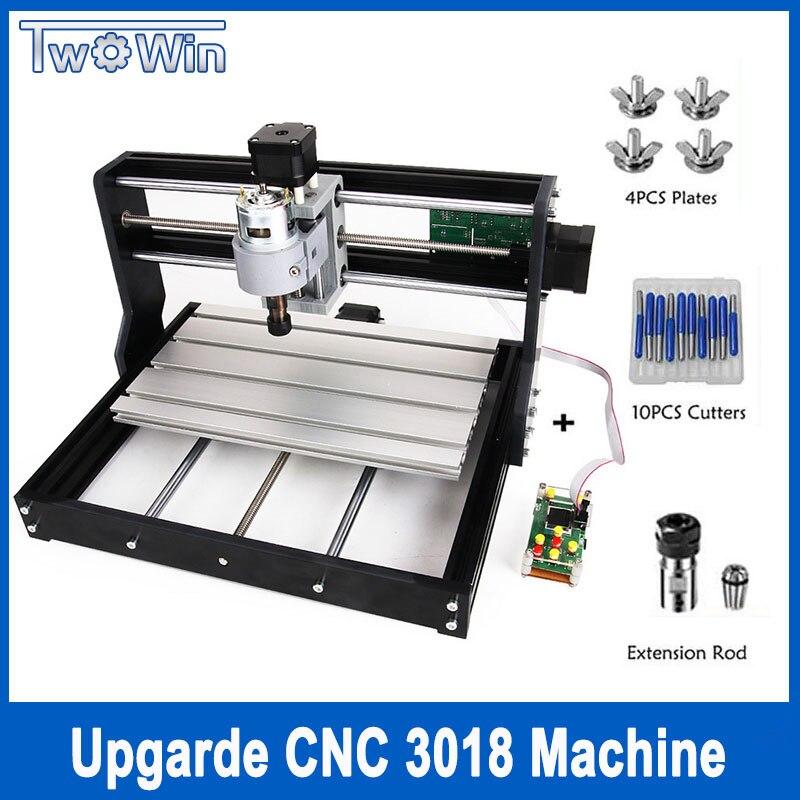 Mise à niveau CNC 3018 Pro GRBL Contrôle Bricolage mini cnc Machine, 3 Axes Fraiseuse pcb, routeur en bois Gravure Laser avec Hors Ligne