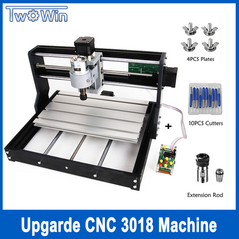 Upgrade CNC 3018 Pro GRBL Control Diy mini cnc Machine,3 Axis pcb Milling Machine,Wood Router Laser Engraving with Offline disassembled pack mini cnc 3018 pro 500mw laser cnc engraving wood carving machine mini cnc router with grbl control l10010