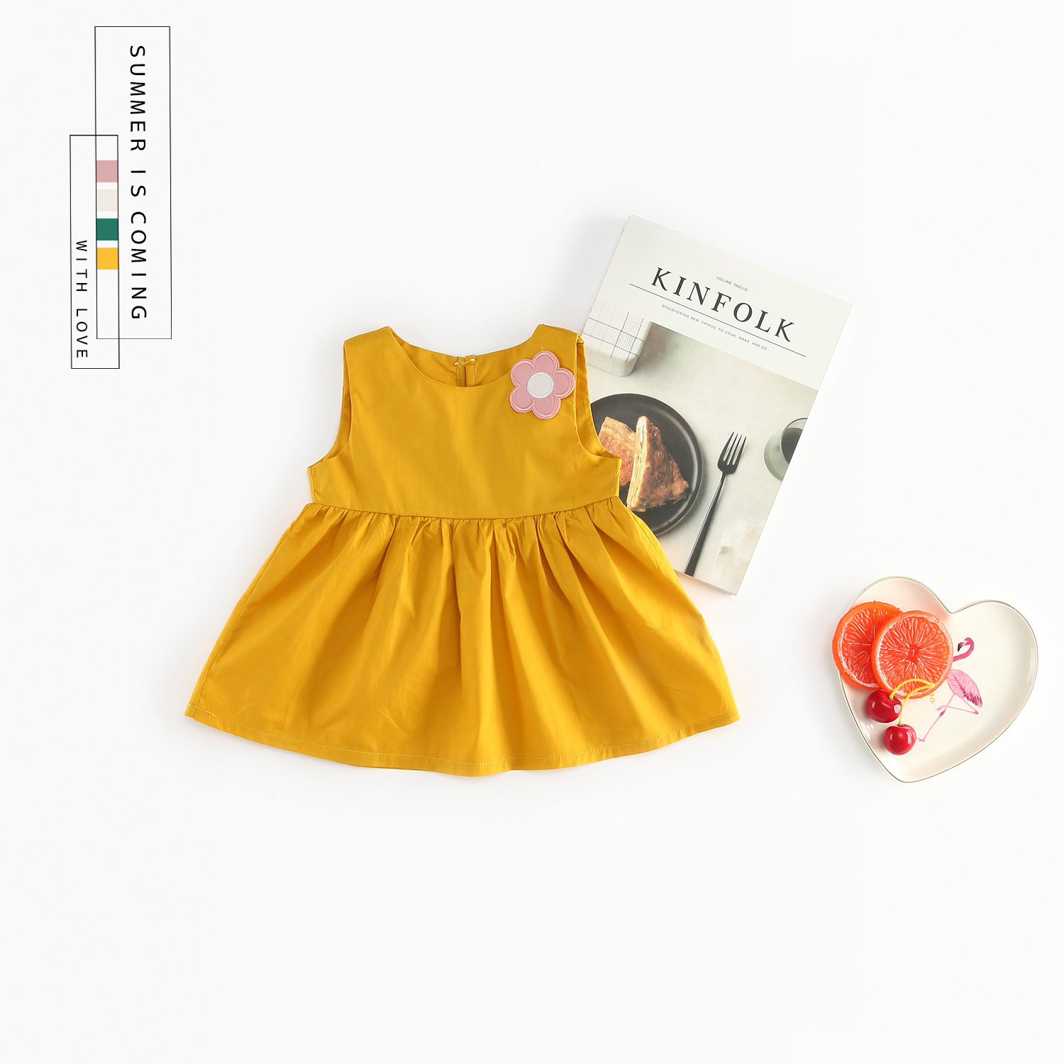 Hot Sale Baby Girl Clothes 2018 Baby Girls Infant Dress -7390