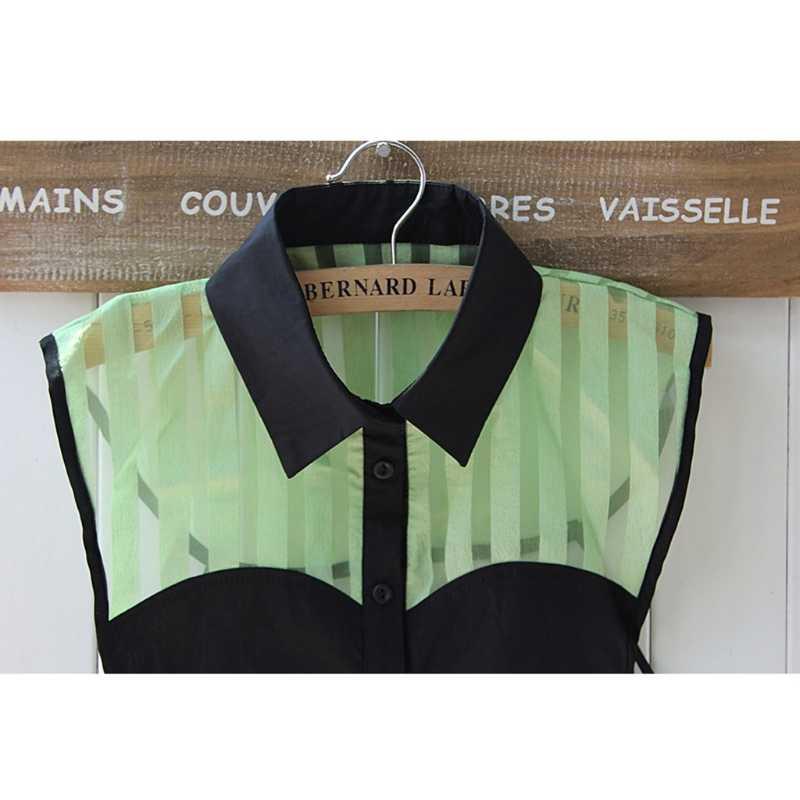 Накладной воротник от рубашки галстук винтажный съемный воротник пэчворк ложная манишка с вышитым воротником Топ Женская одежда Аксессуары W715