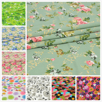 Vintage Printing Pattern Cloth Natural Cotton Polyester Fabric Quilting Patchwork Sewing DIY Textile Multi Pattern Option